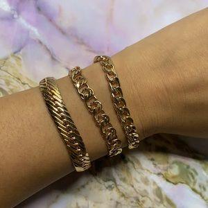 Bundle of 3 Gold Stack Bracelets